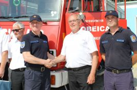 Austrian volunteer firefighters donated to the Republic of Moldova seven intervention vehicles